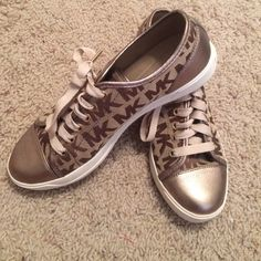 Michael Kors shoes Michael Kors shoes only worn twice!! They are in great condition and match with anything!! Michael Kors Shoes Sneakers