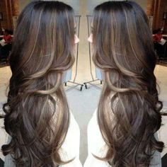 A Suttle Ombre! Very pretty since I love my dark hair with a tad bit of blonde.