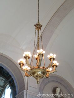 a day at the museum | danacaseydesign | detroit institute of art chandelier