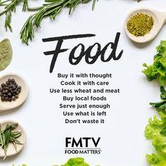 The rules of food! www.FMTV.com #FMTV