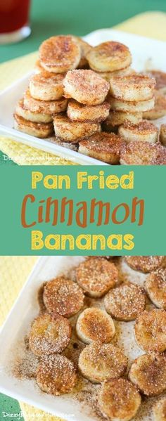Pan Fried Cinnamon Bananas |DizzyBusyandHungry.com - Quick and easy recipe for overripe bananas, perfect for a special breakfast or an afternoon snack!