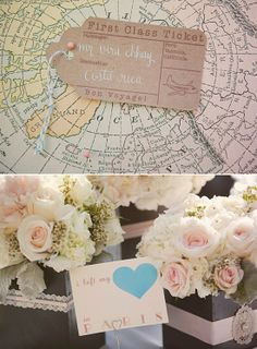 Travel-inspired wedding decor we <3!