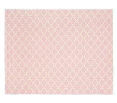 Addison Rug -  Light Pink #pbkids - Lilly's Room