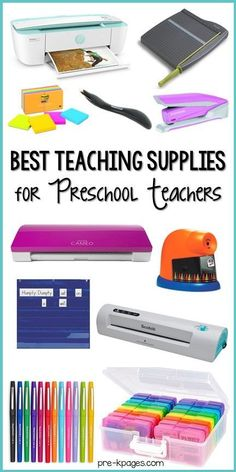 The best teaching supplies for preschool teachers. A list of the most helpful supplies for all preschool, pre-k, and kindergarten teachers.
