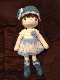 My Crochet Doll, Amigurumi Doll, Crochet Doll, This is Sammie for 6-yr old Samantha, diagnosed with Lukemia since she was 3
