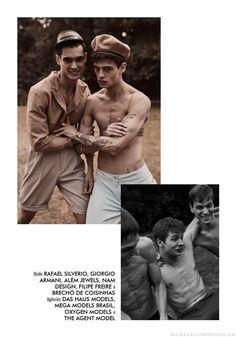 Male Fashion Trends: Amor fraterno: Una editorial por Chrystian Henrique para Cartola Magazine