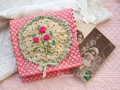 .lovely quilted & embroidered cotton needle book