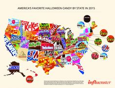 Favorite Halloween Candy by State (2015)