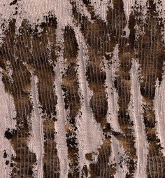 Metallic Foil Textiles Experimentation - distressed surface pattern & texture using bronze foil on stretched fine gauge knit // Lucy Starling
