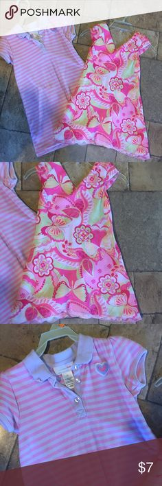 2 Girls Summer Dresses 2 cute little dresses for your little princess.The striped one is a Sz 5T & the other is a sz 4.Both in nice condition Worn and washed a few times. wonder kids Dresses Casual