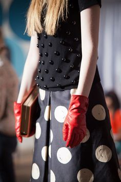 Kate Spade F/W '12 - wonderful embellishment with dots