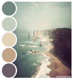 Pastel Feather Studio:   BEACH PALETTE - color palette    ►more find here: pastefeatherstudio.blogspot.com