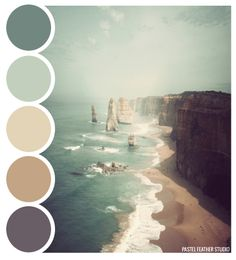 Pastel Feather Studio: BEACH PALETTE - color palette ►more find here: pastefeatherstudio.blogspot.com