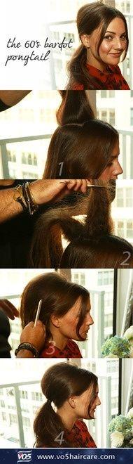 #60's #Bardot #ponytail #tutorial