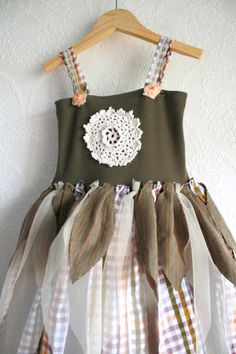 Such a pretty dress, upcycled from old clothing