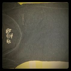 Plain Black Tee w/ Front Pocket V neck, front small pocket, all black Poof! Tops Tees - Short Sleeve