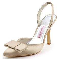 Cheap heel sandals, Buy Quality high heel sandals directly from China sandals high Suppliers: Woman Wedding Shoes Sexy Bridesmaids Pointy Bows Slingback High Heel Sandals Satin Bride Evening Prom Bridal Pumps High Heel Pumps, Pump Shoes, Stiletto Heels, Satin, Cheap High Heels, Beautiful High Heels, Beautiful Things, Bridal Sandals, Elegant