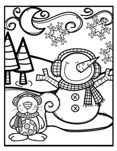 Coloring pages winter Snowman Coloring Pages, Coloring Pages Winter, Colouring Pages, Coloring Pages For Kids, Coloring Books, Christmas Coloring Sheets, Printable Christmas Coloring Pages, Christmas Printables, Christmas Colors