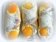 Croissants aux abricots Le Croissant, Croissants, Eggs, My Favorite Things, Breakfast, Pain, Desserts, Food, Bakery Business