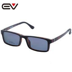 2016 Fashion Glasses With Magnetic Clip On Sunglasses Myopia Driving Glasses Polarized Sunglasses Clip On Dual Purpose EV1406