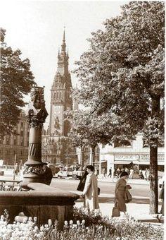 Jungfernstieg, Hamburg vor 50 Jahren (Walter Lüden)