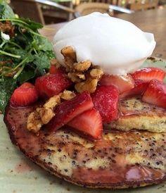 Quinoa pancake recipe from Tender Greens