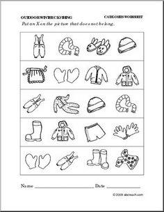 winter clothes same different winter clothes worksheet worksheets worksheets for kids. Black Bedroom Furniture Sets. Home Design Ideas