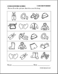 ... thema kledij on Pinterest | Worksheets, Clothes and Dramatic play