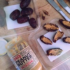 """Mmmm gooey dates stuffed with crunchy peanutbutter - perfect snack to take to school "" Photo taken by @earthlingmaxi on Instagram, pinned via the InstaPin iOS App! http://www.instapinapp.com (05/07/2015)"