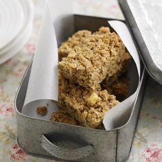 Apple and cinnamon Flapjacks recipe-dessert recipes-recipes-recipe ideas-new recipes-woman and home Apple Recipes, Baking Recipes, Sweet Recipes, Cookie Recipes, Dessert Recipes, Baking Ideas, Yummy Recipes, Vegetarian Recipes, Recipies