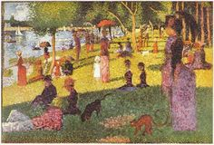 Painter Georges Seurat. This print was in our elementary school library.  I will never forget it!