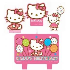 Hello Kitty Birthday Candles