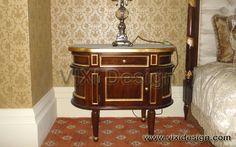 Bedside Drawers Oval Classic Reproduction Furniture
