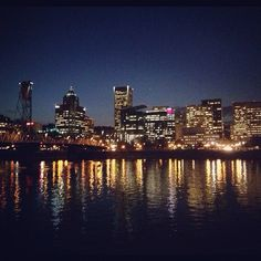 Last night was a beautiful night. Downtown Portland, Travel Bugs, Picture Quotes, New York Skyline, Cool Pictures, Favorite Things, Wanderlust, Explore, Night