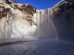 icefall skogarfoss -