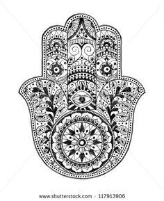 Hamsa Hand (Hand Drawn)