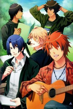 Uta no Prince sama~Shining sure was looking cute when he was young... XD