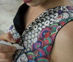 'The Colour-in Dress' é o Vestido para Colorir !