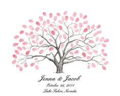 Thumbprint tree guestbook