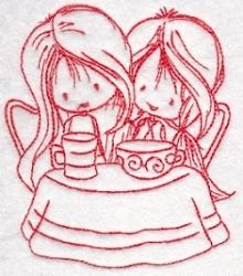 Wryn Redwork Three 6 - 4 Sizes!   What's New   Machine Embroidery Designs   SWAKembroidery.com Bunnycup Embroidery