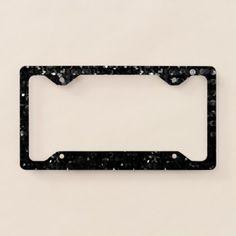 #glitter - #Licence Plate Frame Black Crystal Bling Strass