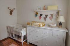 My little girl's nursery. Ikea Hemnes dresser as changing table.