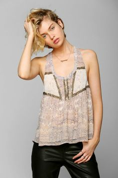 Ecote Main Event Embellished Tank Top