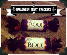 Trick or Treat Ideas for Halloween Scary Halloween Treats, Halloween Favors, Halloween Boo, Holidays Halloween, Halloween Crafts, Holiday Crafts, Halloween Decorations, Halloween Tricks, Seasonal Celebration