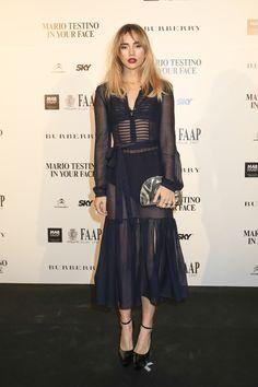 British model Suki Waterhouse wearing Burberry