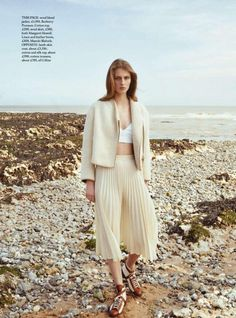 Florence Kosky for Harper's Bazaar UK July 2015 - Burberry Prorsum