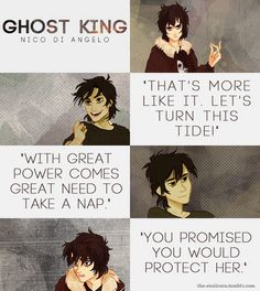 """Nico Di Angelo Quotes """"the sad thing is like that's half of his lines."""" :/"""