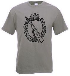 T-Shirt Infanterie Sturmabzeichen in der Farbe oliv. Auf dem T-Shirt ist das Infanterie Sturmabzeichen der deutschen Wehrmacht abgebildet. / mehr Infos auf: www.Guntia-Militaria-Shop.de
