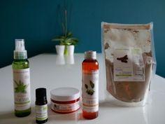 Photo de produits soin naturels.