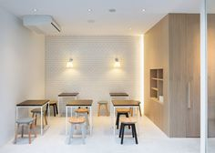 Beauty Library dining and events space by Nendo